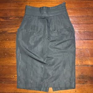 H&M Dark Green Pencil Skirt